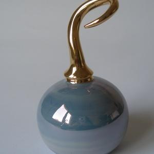Parfümös palack, Dezodor & Parfüm, Szépségápolás, Kerámia, A régi korokat idéző, finom nőies szépítkező kiegészítő. Légmentesen záródik (egy tömítőgyűrű segíts..., Meska