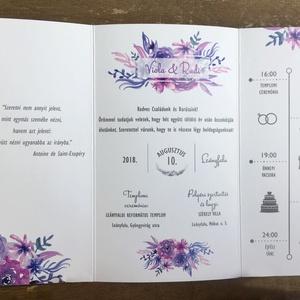 Esküvői meghívó , Meghívó, Meghívó & Kártya, Esküvő, Fotó, grafika, rajz, illusztráció, Ár tartalma: grafikai munka + nyomdai költségek -> azaz a kész terméket kapod kézhez\n\nEgyedi megrend..., Meska