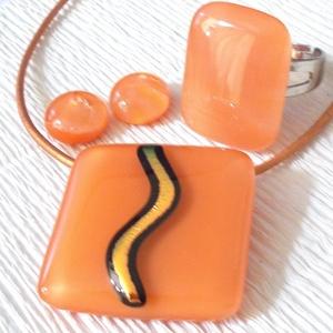 Narancsos - barack ékszerszett nőknek, lányoknak, ballagásra, névnapra, születésnapra. (Dittiffany) - Meska.hu