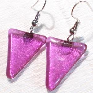 Pink fény  fülbevaló farsangra, névnapra, születésnapra. (Dittiffany) - Meska.hu