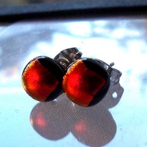 Fekete cseresznye trendi ékszerszett ajándék fülbevalóval,  szalagavató bálra, ballagásra, névnapra, születésnapra. (Dittiffany) - Meska.hu
