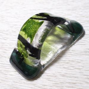 Szalvétagyűrű zöld fénnyel (Dittiffany) - Meska.hu