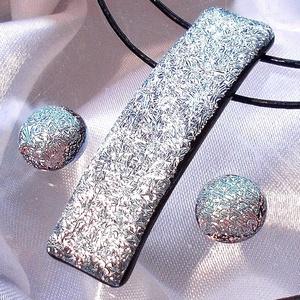 Ezüst fények  ékszerszett díszdobozba csomagolva,  szalagavató bálra, ballagásra, névnapra, születésnapra. (Dittiffany) - Meska.hu