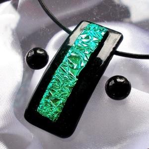 Emeráld szikrázás  nyaklánc és fülbevaló,  ajándék  nőknek, ballagásra, névnapra, születésnapra. (Dittiffany) - Meska.hu