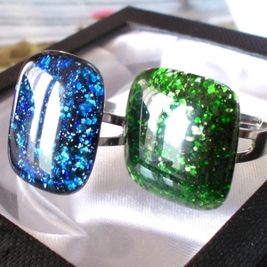 Kettő az egyben aventurin gyűrű páros, ajándék nőknek névnapra, születésnapra. - ékszer - gyűrű - Meska.hu