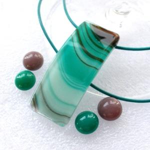 Hullámok színek játéka ékszerszett ajándék karácsonyra., Ékszer, Ékszerszett, Ékszerkészítés, Üvegművészet, Saját tervezésű formatervezett hajlított ékszerszett, sajnos a m......design már másolja, az általam..., Meska