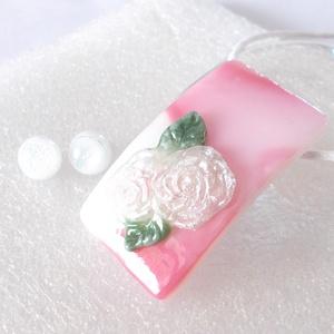 Málna-rózsa, romantikus ékszerszett, ajándék  ballagásra, névnapra, születésnapra., Ékszer, Nyaklánc, Medálos nyaklánc, Üvegművészet, Ékszerkészítés, Csúcsminőségű ékszerüvegből, különleges eljárással készült romantikus ékszer.\nA medál minden része ü..., Meska