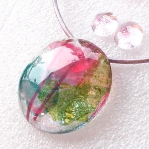 Rózsakert üvegékszer szett, ajándék nőknek névnapra, születésnapra., Ékszer, Ékszerszett, Ékszerkészítés, Üvegművészet, \nFusing technikával készült, ez a különleges fényű üvegékszer.\nÁtlátszó, mintás üvegből olvasztottam..., Meska
