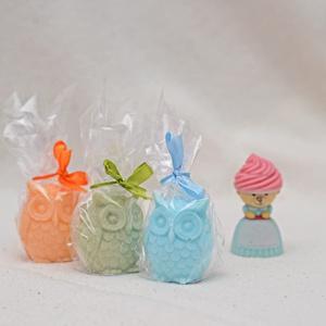 szappan bagoly, Otthon & Lakás, Dekoráció, Dísztárgy, Szappankészítés, Szappanból készült illatos baglyok \na termék a képen szereplő színekben és tetszőleges illatokban vá..., Meska
