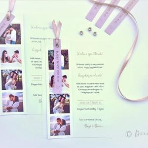 Fotós esküvői meghívó, Esküvő, Meghívó & Kártya, Meghívó, Papírművészet, Ha igazán egyedi és személyes meghívót szeretnétek tökéletes választás ez a fotóitokkal ellátott meg..., Meska