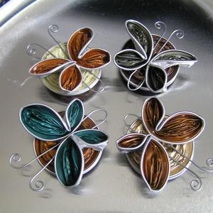 Nespresso kapszulából készített pillangó formájú hűtőmágnes (DIYorbuy) - Meska.hu