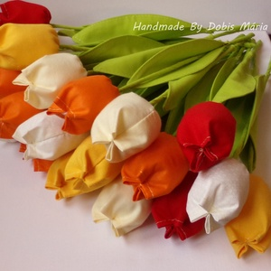 Textil tulipán 5 db (DobisMaria) - Meska.hu