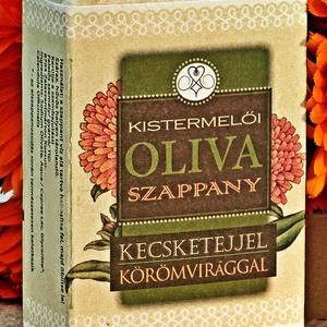Kistermelői Olíva Szappany Kecsketejjel Körömvirággal, Szépség(ápolás), Táska, Divat & Szépség, Krém, szappan, dezodor, Kecsketejes szappan, Natúrszappan, Kozmetikum készítés, Szappankészítés, A Körömvirágos Kecsketejes Olívaszappany elkészítéséhez kizárólag a legjobb étkezési minőségű szicíl..., Meska
