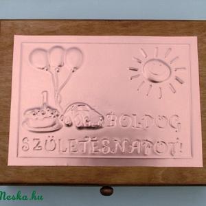 Érmetartó dobozka babaszületésre, keresztelőre, születésnapra (Dobozmanufaktura) - Meska.hu