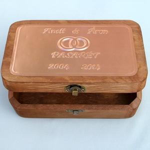 Évfordulós dobozka egyedi felirattal (Dobozmanufaktura) - Meska.hu