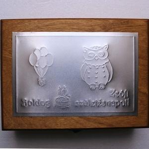 Baglyos születésnapi dobozka = (Dobozmanufaktura) - Meska.hu