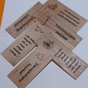Könyvjelző fából, valóban egyedi és egyénre szabott!, Otthon & Lakás, Ház & Kert, Famegmunkálás, Gravírozás, pirográfia, Egyedi gravírozott bükk fa könyvjelző akár ajándéknak is!\nMérete: kb. 15x5 cm (1-2 mm vastag, így ne..., Meska