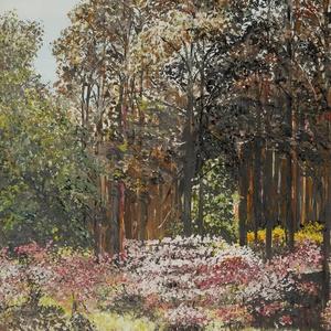 Végre tavasz-1, Otthon & lakás, Képzőművészet, Festmény, Akvarell, Festészet,  A különböző színek összhangja. 42 x 29 cm-es kombinált akvarell technikával készült festmény keretb..., Meska