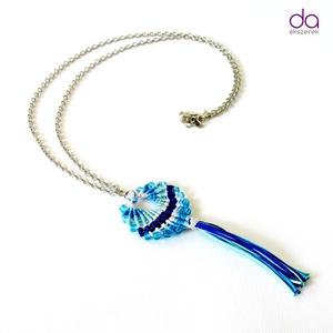 Maracas nyaklánc (kék), Ékszer, Medálos nyaklánc, Nyaklánc, Csomózás, Meska