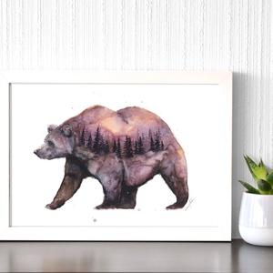 Az erdő őre  - akvarell festmény (nyomat) - Meska.hu