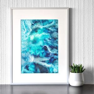 Óceán - akvarell festmény (nyomat), Művészet, Művészi nyomat, Festészet, Meska