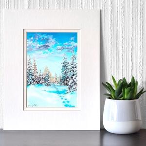 Nyomok - akvarell festmény (nyomat), Otthon & lakás, Képzőművészet, Festmény, Akvarell, Festészet, Nyomok  - művészeti nyomat 190g-os papíron az eredeti akvarell festmény alapján (giclée technikával ..., Meska