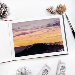 Tundra - Művészeti nyomat (az eredeti gouache festmény alapján), Művészet, Művészi nyomat, Festészet, Meska