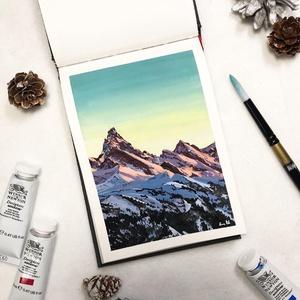 Csípős reggel - Művészeti nyomat (az eredeti gouache festmény alapján), Művészet, Művészi nyomat, Festészet, Meska