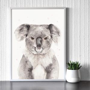 Koala portré - Művészeti nyomat (az eredeti akvarell festmény alapján), Művészet, Művészi nyomat, Festészet, Meska
