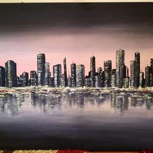 New York absztrakt festményem  (Dorej) - Meska.hu