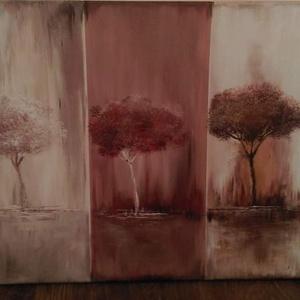 Mi vagyunk a három fa család. , Művészet, Festmény, Akril, Festészet, Eladásra kínálom 40x50 cm Akryllal festett feszített vászonra Mi vagyunk a három fa család című fest..., Meska