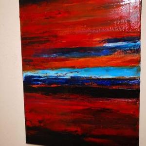 Színkavalkád , Művészet, Festmény, Olajfestmény, Festészet, A színkavalkád cimu festményem 30x40cm olajjal festett feszített vászonra.\nÉles eros impulzív színek..., Meska