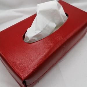 Papírzsepkendő box, Otthon & Lakás, Tárolás & Rendszerezés, Zsebkendőtartó, Bőrművesség, Sokan használják már a dobozos papírzsebkendőket,melyeket el lehet helyezni a lakás különböző pontja..., Meska