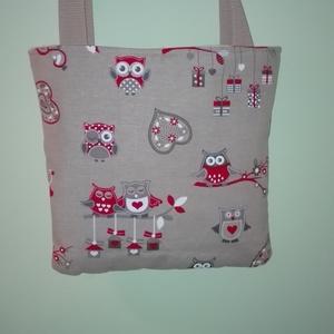 aa6f6f4b3871 Baglyos kis táska piros baglyokkal, Táska, Ruha, divat, cipő, Válltáska, ...