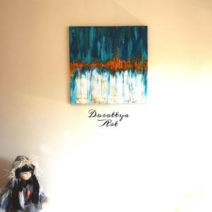 Alaska, Otthon & lakás, Dekoráció, Kép, Képzőművészet, Festmény, Akril, Napi festmény, kép, Festészet, Méret: 40x40\nEz a festmény Alaskát ábrázolja abstract vonalakban.\nJeget , hideget , olvadást és egy ..., Meska