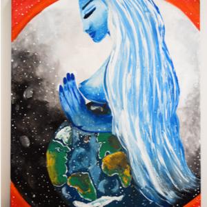 Föld Anya, Otthon & lakás, Dekoráció, Kép, Lakberendezés, Falikép, Festészet, Igazán sokat mondó kép számomra is. Szeretet és békességet jelképez.\nMéret: 40x50, Meska