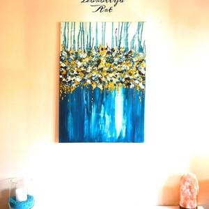 Sea, Otthon & lakás, Dekoráció, Kép, Képzőművészet, Festmény, Akril, Festészet, Energikus kékség. Igazán élénk színekben gazdag aki szereti a kéket elégedett lesz a festménnyel. Be..., Meska