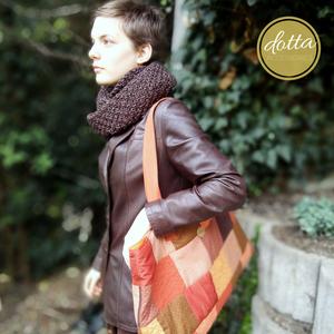 Big Bag Autumn  laptop táska patchwork mintával - táska & tok - kézitáska & válltáska - válltáska - Meska.hu