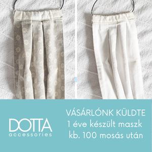Drapp maszk - 2 rétegű bézs - kockás férfi női gyerek arcmaszk - 100% pamut  - Meska.hu