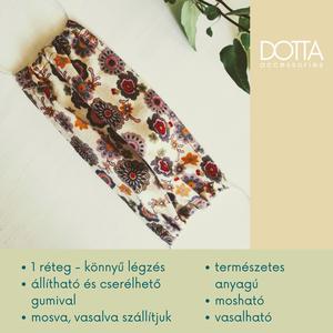 1 rétegű maszk - természetes anyagú arcmaszk - virágos színes pamut len selyem maszkok - színtípus szájmaszk, Maszk, Arcmaszk, Női, Varrás, Meska