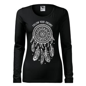 Női Álomfogó hosszú ujjú póló, Dreamcather, Mandala minta,  (DrasiShop) - Meska.hu