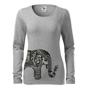 Női elefánt hosszú ujjú póló, Elephant, Namaste, OM, Ohm , mandala, India (DrasiShop) - Meska.hu