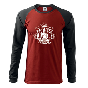 Férfi Buddha hosszú ujjú póló, Jóga, OM, Ohm , yoga (DrasiShop) - Meska.hu