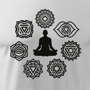 Férfi 7 csakra hosszú ujjú póló, Jóga, OM, Ohm , yoga, chakra (DrasiShop) - Meska.hu