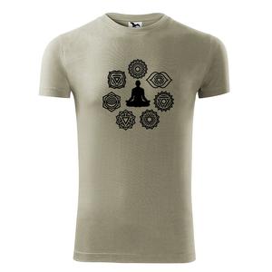 Férfi 7 csakra rövid ujjú póló, Jóga, OM, Ohm , yoga, chakra (DrasiShop) - Meska.hu