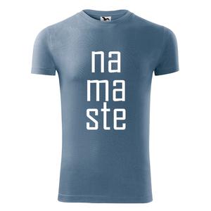 Férfi Namaste rövid ujjú póló, Jóga, OM, Ohm , yoga, chakra (DrasiShop) - Meska.hu