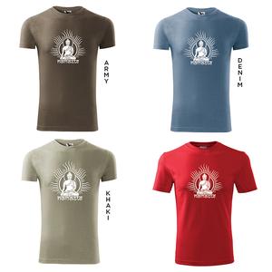Férfi Buddha rövid ujjú póló, Jóga, OM, Ohm , yoga, chakra, Budha (DrasiShop) - Meska.hu