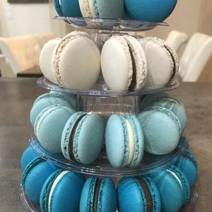 Macaron torony (4 emeletes), Élelmiszer, A képen látható MACARON torony 34 darab, mandulalisztből készített macaronból ál 5 különböző ízvariá..., Meska