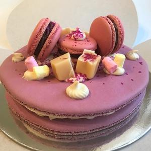 Óriás MACARON torta ♥, Édesség, Élelmiszer, Élelmiszer előállítás, Ez a különleges és látványos, ízélményben gazdag 15 cm-es óriás MACARON torta mandulalisztből készít..., Meska