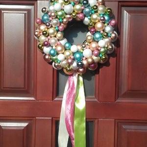 Nagy 45 cm - Pasztell elegancia - adventi karácsonyi ajtódísz  (35-36 cm), Otthon & lakás, Dekoráció, Ünnepi dekoráció, Lakberendezés, Koszorú, Virágkötés, Újra eltelt egy év, lassan itt van az adventi-karácsonyi időszak... \n\n Nem szeretem az uniformizált ..., Meska